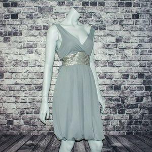 TED BAKER London Sequin Empire Waist Dress